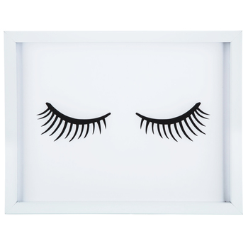 Eyelashes Wood Wall Decor